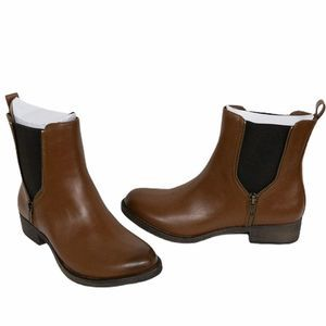 Rocket Dog Brown Side Zip Camilla Booties 7 1/2
